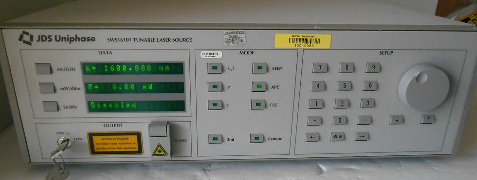 JDSU SWS16101 TUNABLE LASER SOURCE 3642HE16 / M