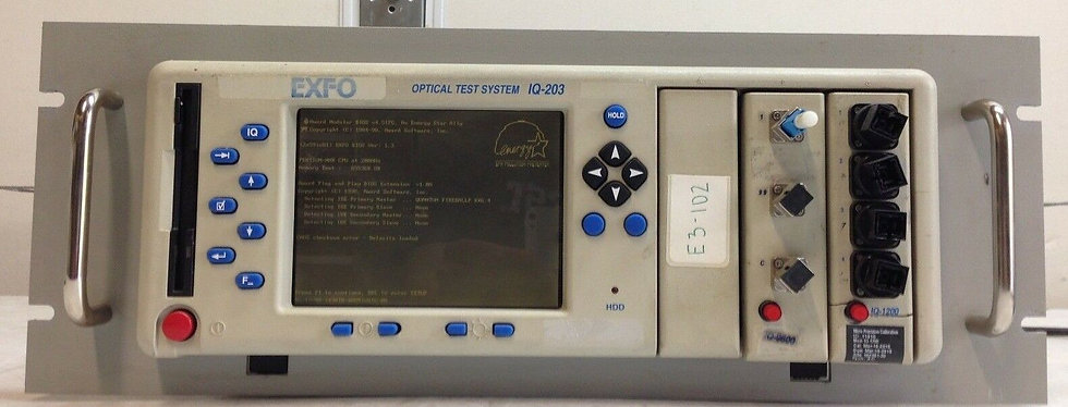 EXFO IQ-203 Optical Test System W/ IQ-1200 and IQ-9600