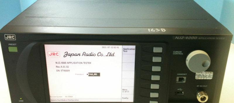 JRC NJZ-4000 APPLICATION TESTER