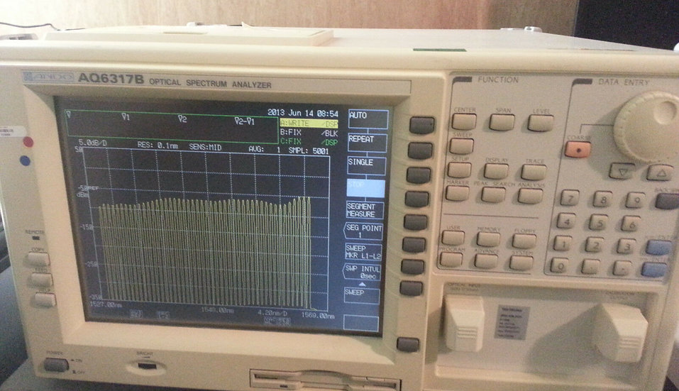 Ando AQ6317B Optical Spectrum Analyzer   OSA calibated