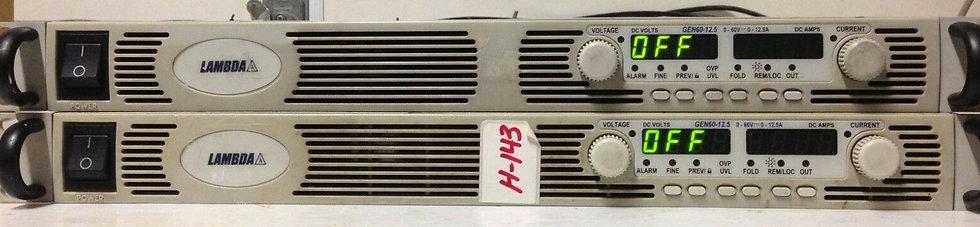 Lambda GEN  60-12 DC Power Supply 0-60V 0-12A