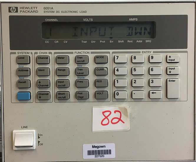 Hewlett Packard HP System DC Electronic Load Model 6051A