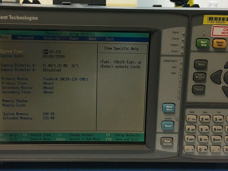 Agilent J2127A 10Gb/s Transmission Test Set. Opt 100, 111, 190