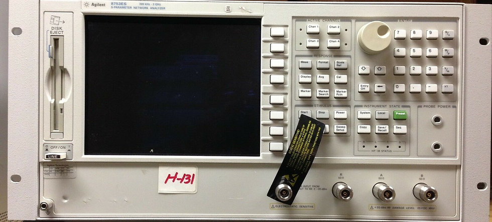 Agilent / HP 8753ES options 011 and UK6 3Ghz