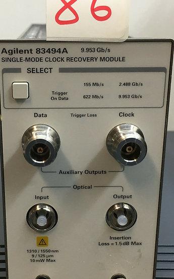 Agilent / HP 83494A 9.953 Gb/s Single mode Clock Recovery Module W OPT 115