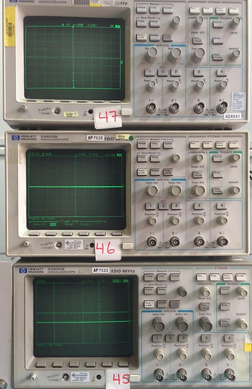 HP Model 54602B 150MHz 4 Channel Digital Oscilloscope. Add $ 50 for 54650A card.