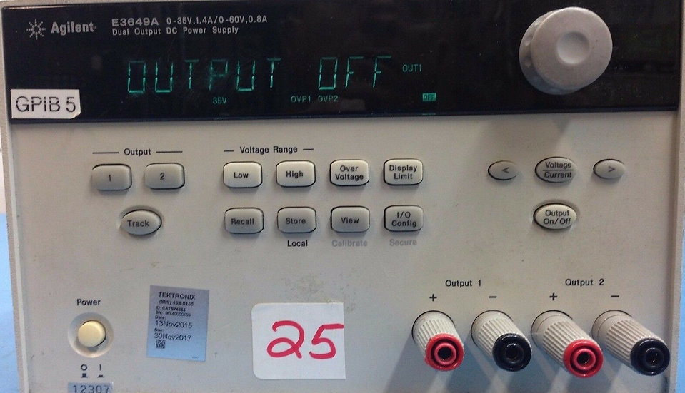 Agilent / HP E3649A 100W Dual Output Power Supply Two 35V, 1.4A or 60V, 0.8A
