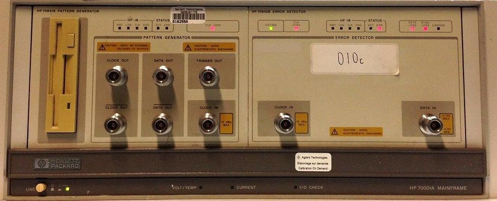 HP / Agilent 70001A W/ 70841B, 70842B Pattern Generator OPT H50