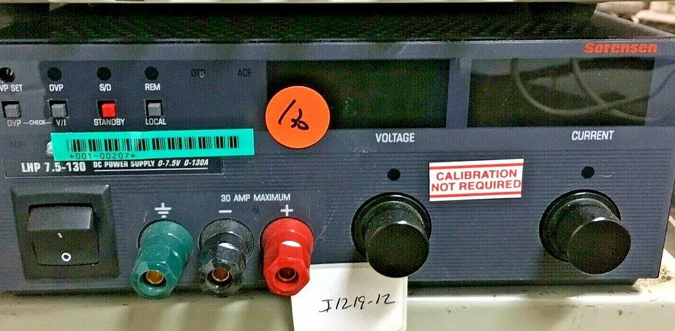 Sorensen/Xantrex LHP 7.5-130 Laboratory DC Power Supply
