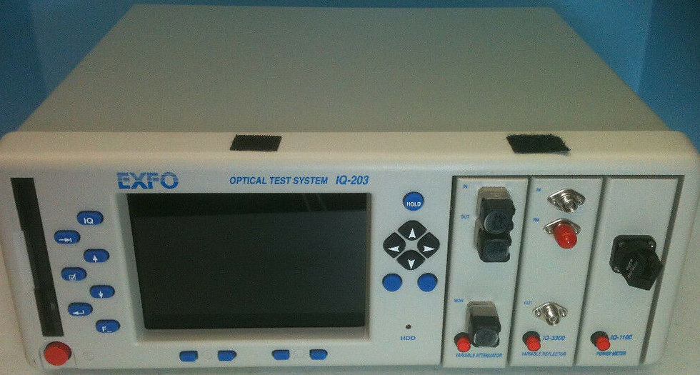 EXFO OPTICAL TEST SYSTEM IQ-203 W/IQ-3300, IQ-1103