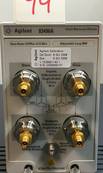 Agilent 83496A w options 100-200-300 Clock Recovery Module for 86100A