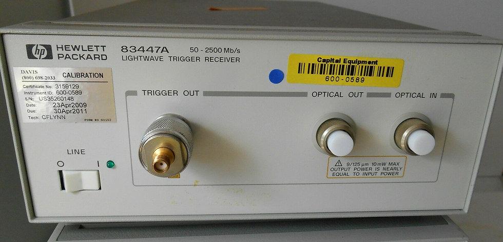 HP Agilent 83447A Lightwave Trigger