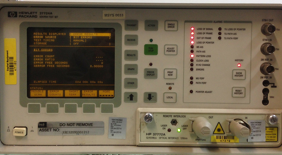 HP 37724A SDH PDH Test Set w/ Opt 005