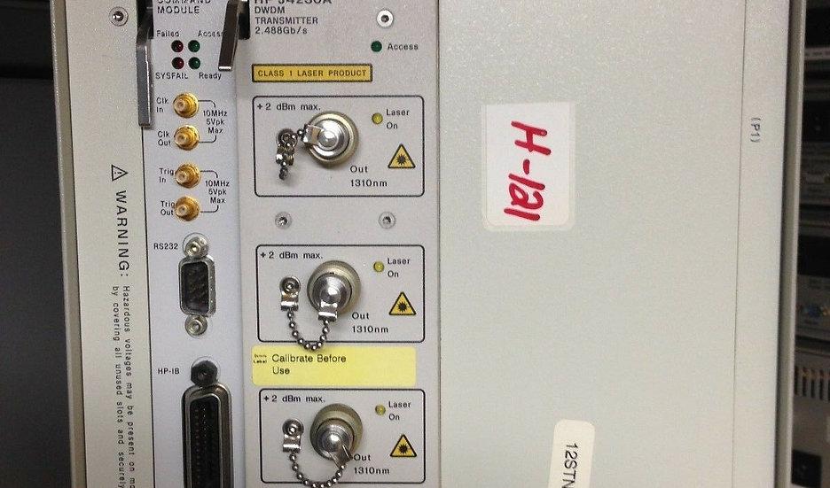 HP/Agilent E1421B  W/ E1406A-Command & J4230A DWDM TRANSMETER  2.488 Gb/s