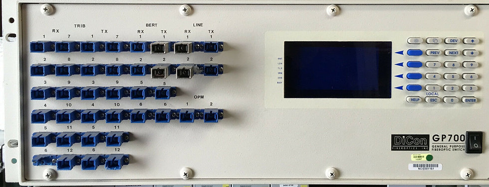 DiCon GP700 Programmable Fiber Multi Switch  with TX and RX ports