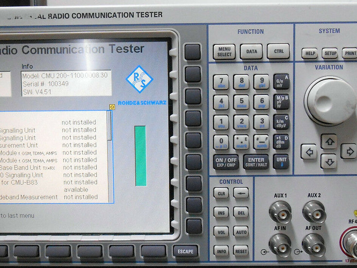 Rohde & Schwarz CMU200 Universal Radio Communications Tester w options