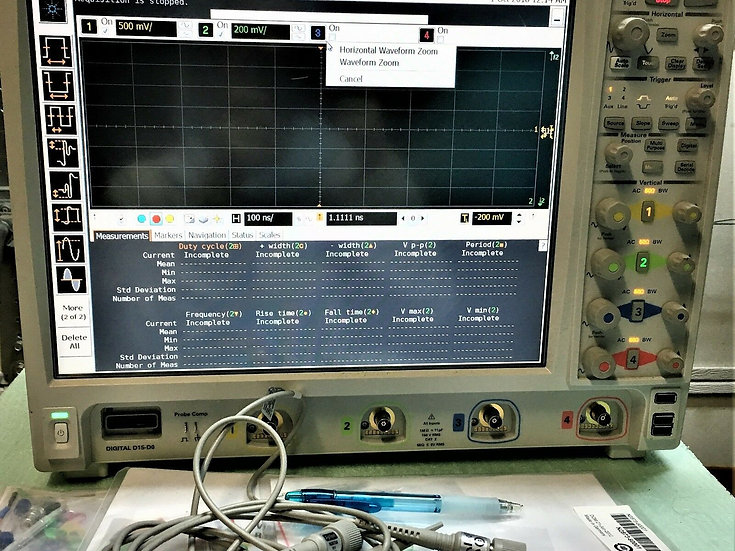 DSO9404A Oscilloscope: 4 GHz, 4 Analog Channels W/Opt. 003, 009 and 800