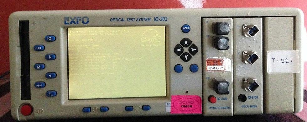 EXFO IQ-203 Optical Test System W/ Modules IQ-3100 and IQ-9100