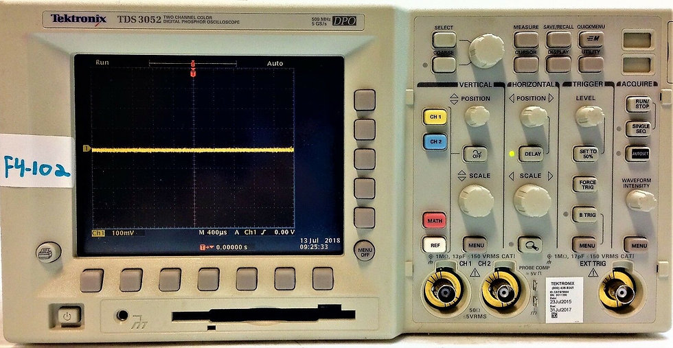 Tektronix TDS 3052 Two Channel Color Digital Phosphor Oscilloscope