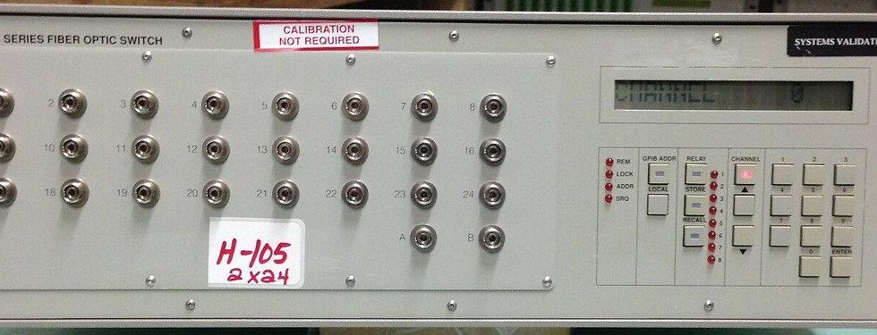 JDS FITEL SC24B5-E2FP SC SERIES FIBER OPTIC SWITCH  2X24