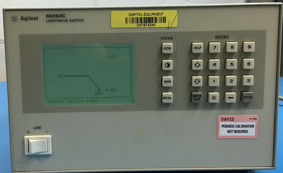 Agilent 86060C 1X8 Optical Lightwave Switch w/ opt 001,017,051,109,