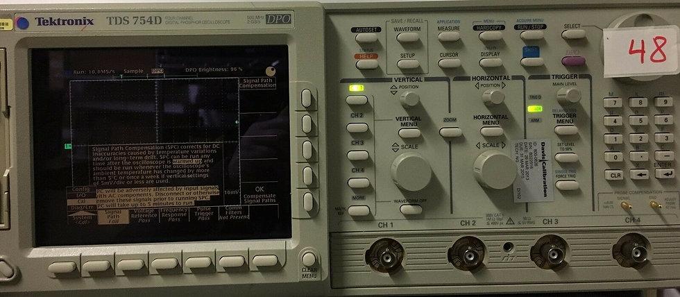 Tektronix TDS754D 500MHz 2GS/s O'scope 30 Days warranty Opt. 13, 1F & 2F