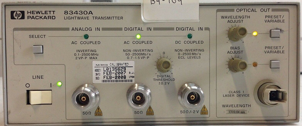 HP Agilent 83430A Lightwave Transmitter 1310.04 nm OPT 117