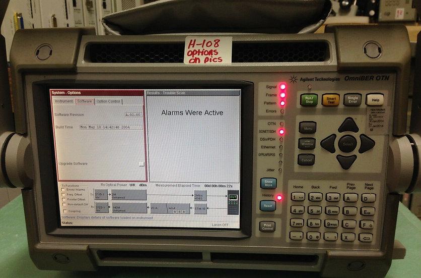 Agilent HP J7232A OmniBer OTN Opt.004, 012, 106, 325, 609, CFG 003