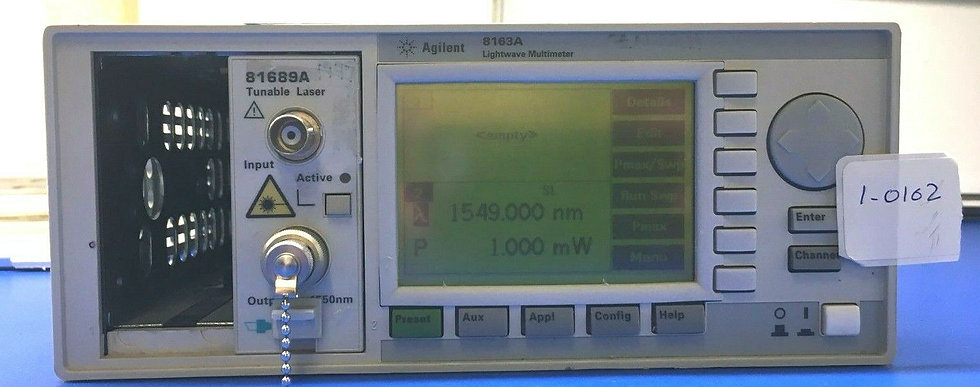 Agilent 8163A Lightwave Multimeter with 81689A  tunable laser source