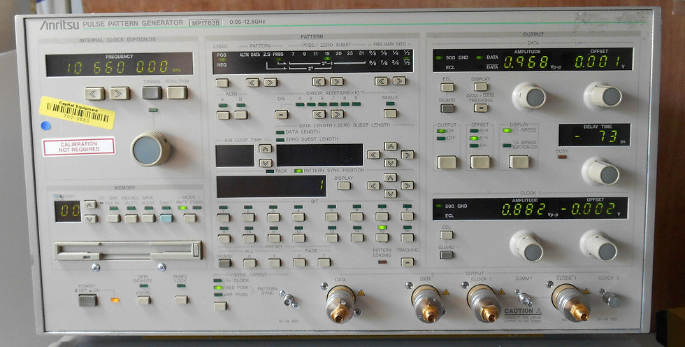 ANRITSU MP1763B AND MP1764A Pulse Generator And Error Detector 5-12 Ghz opt 01