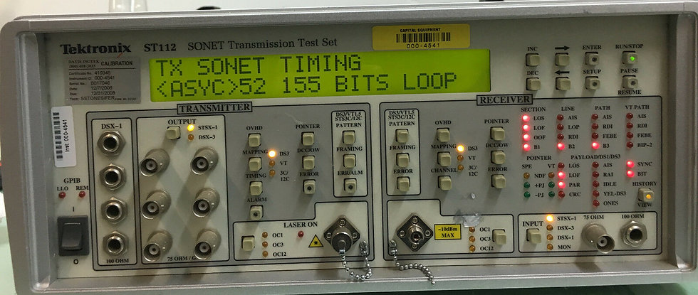 Tektronix  ST112  SONET Transreciver  Test Set Transmission Analyzer