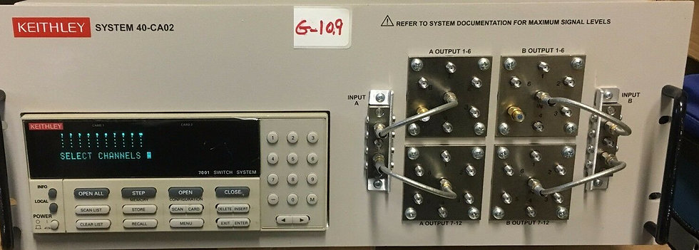keithley 7001 SWITCH SYSTEM S40-CA02