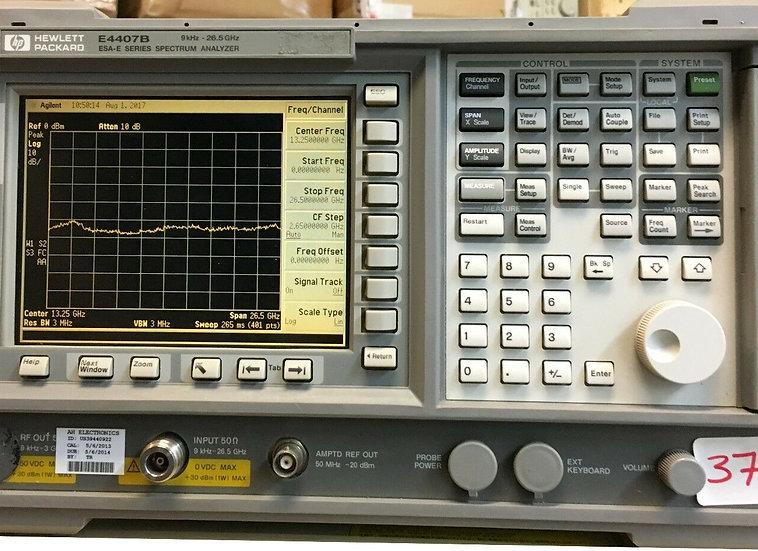 Hewlett Packard E4407B ESA-E Series Spectrum Analyzer, 9 KHz - 26.5 GHz,