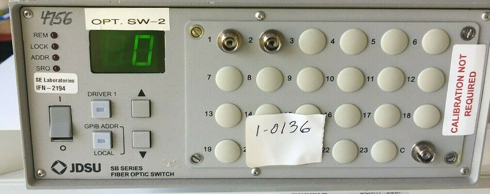 JDS uniphase SB1C10021+ 27XF000FA Fiber Optic Switch W OP  sw-2