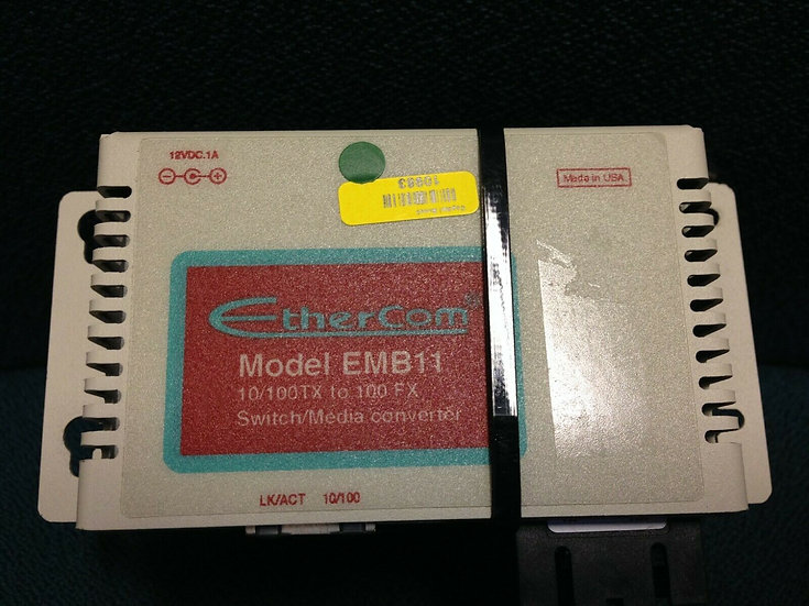 EtherCom Model EMB11 10/100 TX to 100 FX LK/ACT 10/100 Switch/Media  Converter