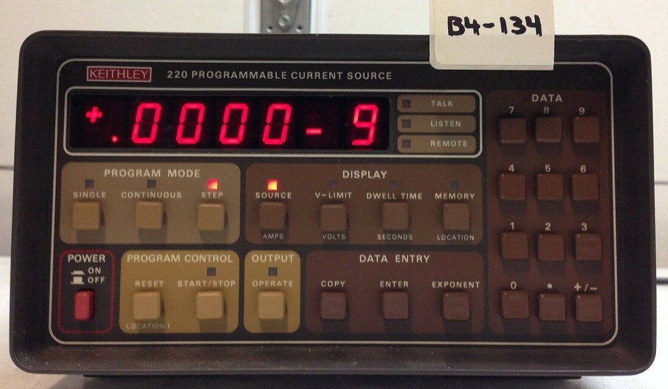 Keithley 220 Programmable Current Source Multirange BUS Input IEEE-488