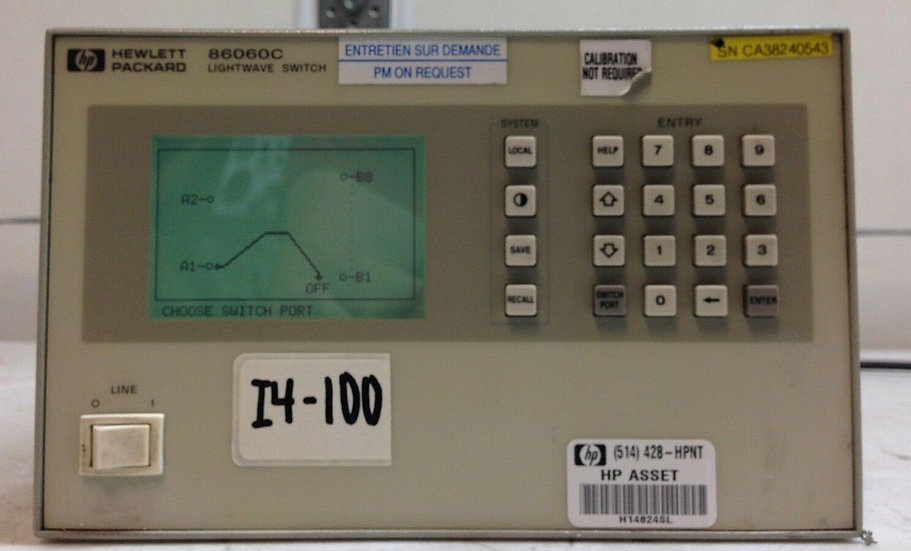 HP Agilent 86060C Lightwave Switch 2x8 W/ Opt 002, 017, 051, 109, 208