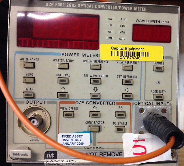 Tektronix OCP5002 2GHz Optical Converter/Power Meter