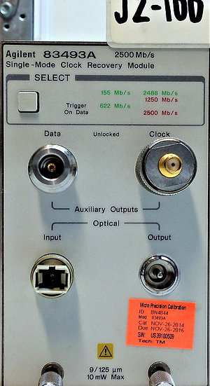Agilent 83493A Single- Mode Clock Recovery Module 2500 Mb/s