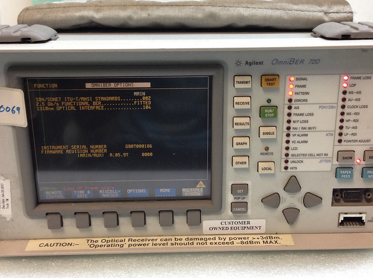 Agilent Omniber 720 J1407A Communication Analyzer