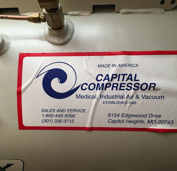 Capital Compressor  Industrial Air and Vacuum with Baldor M3115 complet system.