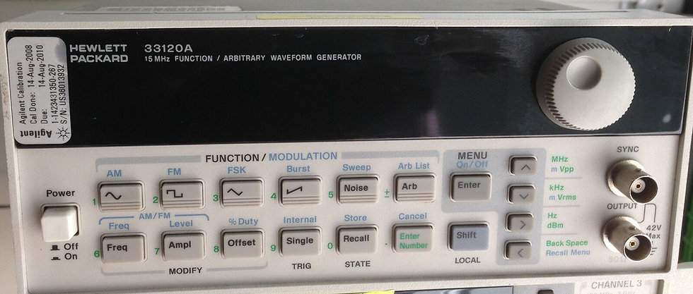 HP/Agilent 33120A Function / Waveform Generator
