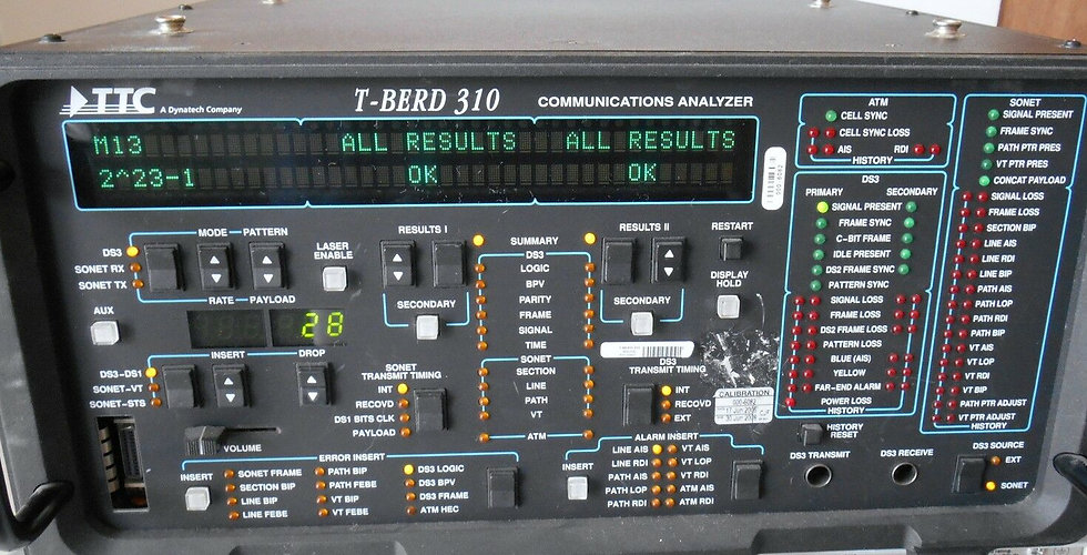 TTC T-BERD 310 ANALYZER WITH 8 OPTIONS  310-5 DS3 JITTER TBERD