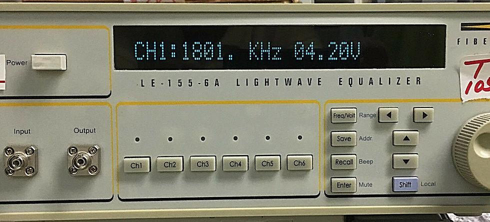 FiberPro LE-155-6A Lightwave equalizer