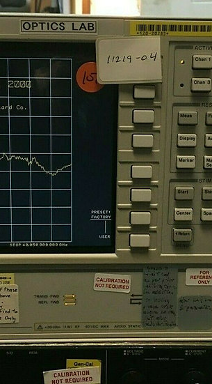 Agilent 8722ES 50 MHz- 40 GHz S-PARAMETER NETWORK ANALYZER OPTS 1D5,010, 012