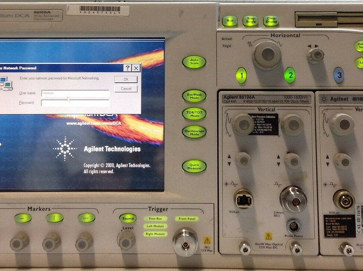 Agilent infiniium Wide-Bandwidth Oscilloscope 86100A No Option Main Frame only