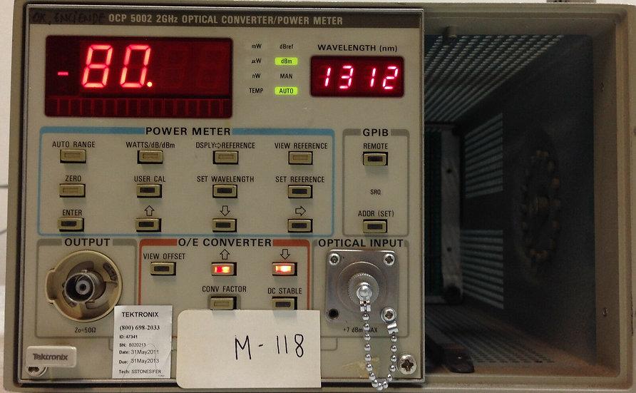 Tektronix OCP5002 2GHz Optical Converter / Power Meter