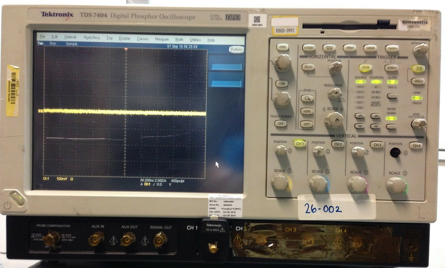 Tektronix TDS7404 4M 4-Channel Oscilloscope , 4GHz, 20 GS/s