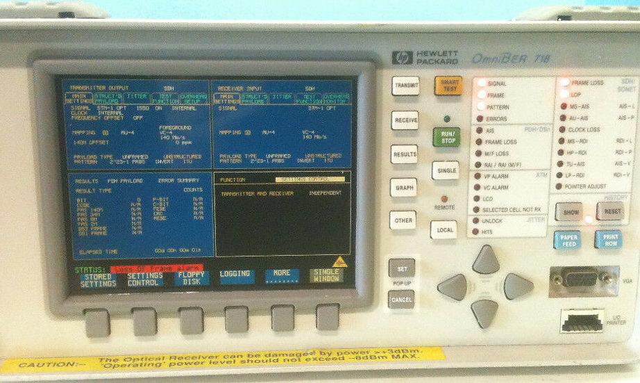 HP OmniBer 718A / 37718A  W/OPT 002 012 106 200 601 UK6