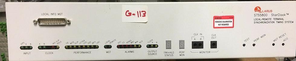 LARUS STS5800 STARSYNC GPS STRATUM 1 PRIMARY REFERENCE SOURCE  w / GPS Antenna